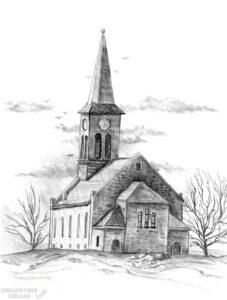 cómo dibujar una iglesia 1
