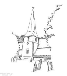 como dibujar iglesias 1