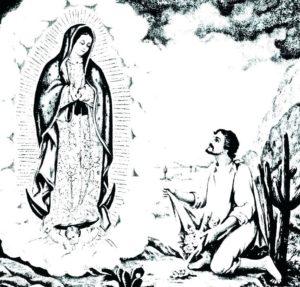como dibujar la virgen de guadalupe