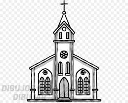 como dibujar una iglesia facil