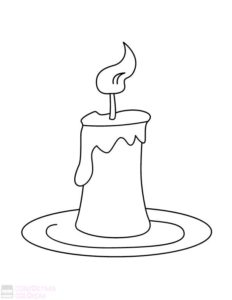 como dibujar una vela