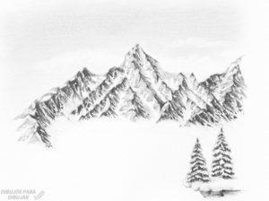 cristales de nieve dibujos