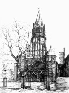 dibujo de iglesia para niños scaled