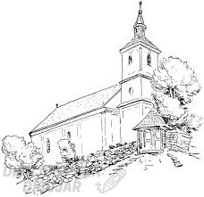 dibujo iglesia infantil