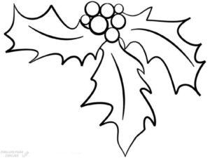 dibujo muerdago 1