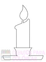 dibujo vela cumpleaños
