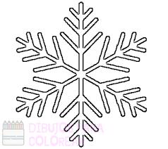 dibujos de copos de nieve para colorear