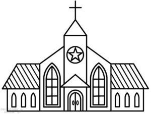 dibujos de iglesias a lapiz