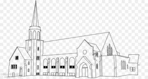 dibujos de iglesias infantiles
