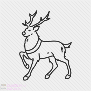 dibujos de renos navideños para imprimir