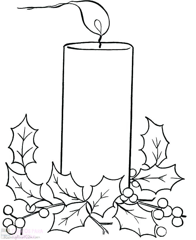 dibujos de velas navideñas