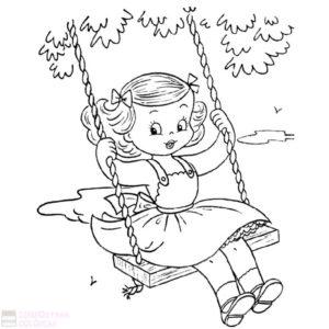 dibujos para colorear niñas