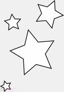 estrellas para imprimir y recortar