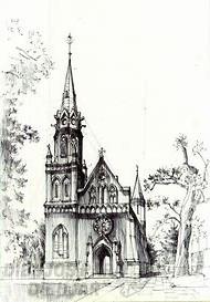iglesia dibujo infantil