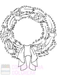 imagenes de la corona de adviento para colorear