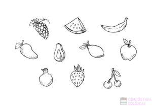 canasta de frutas dibujo 1
