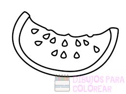 dibujar una sandia