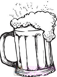 dibujo jarra cerveza