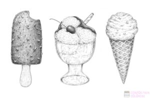 dibujos animados de helados