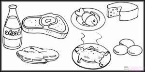 dibujos de alimentos para colorear