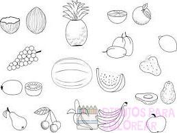 dibujos de frutas animadas