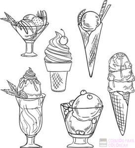 dibujos de helados animados