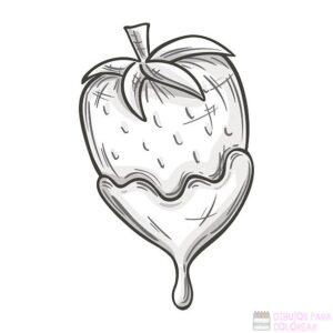 dibujos infantiles de fresas