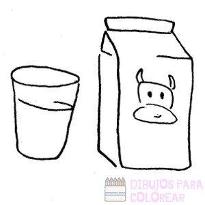 dibujos para colorear de lechero