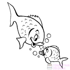 imagen de pescado para colorear