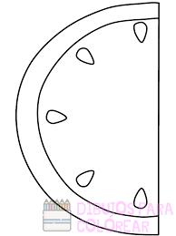 imagen de sandia para colorear