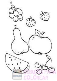 imagenes de alimentos saludables para colorear