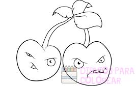 imagenes de cerezas para colorear