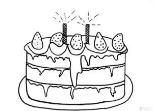 pastel de cumpleaños animado