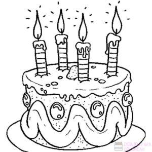 torta de cumpleaños dibujo