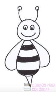 abeja colorear