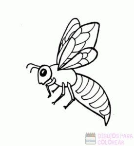 abeja dibujo animado