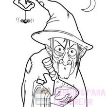 bruja dibujos animados