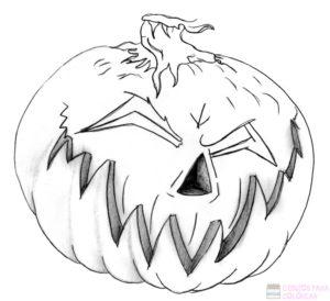 calabazas de halloween dibujo