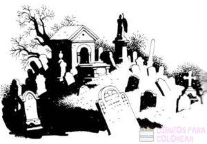 cementerio dibujo