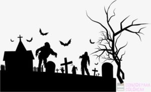 cementerio en animacion