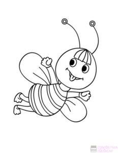 como se dibuja una abeja