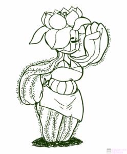 dibujos de cactus tumblr