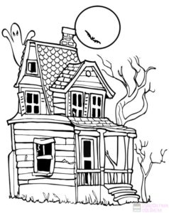 dibujos de mansiones embrujadas