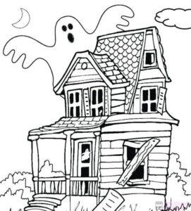 dibujos para colorear de casas encantadas