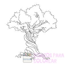 imagenes de arboles para colorear