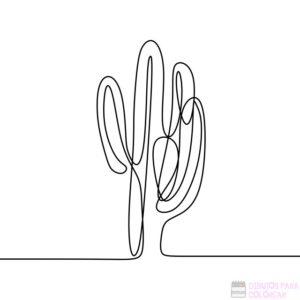 imagenes de cactus para colorear