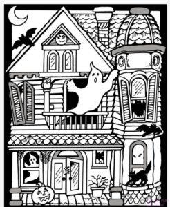 la casa encantada dibujos animados