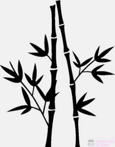 pintar cañas de bambu