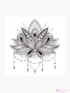 plantilla flor de loto
