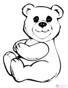 dibujos de osos de amor